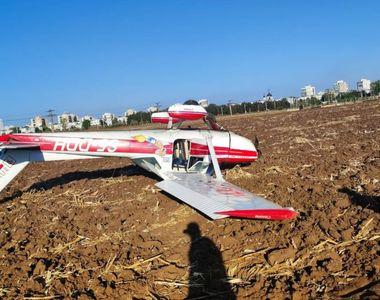 Un avion a aterizat forțat, lângă aerodromul Strejnic din Prahova