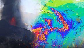 VIDEO | Un nor vulcanic intră în România și se întinde în toată țara până luni seara