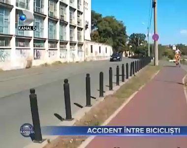 Accident intre biciclisti