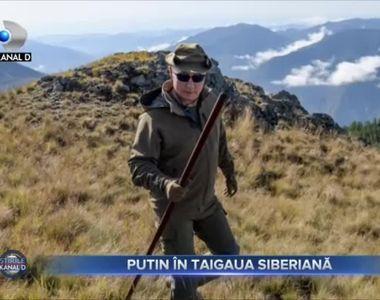Putin, in taigaua siberiana