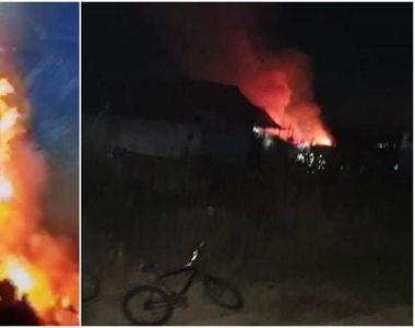 Un bărbat din Gorj și-a incendiat casa, apoi s-a sinucis în pod