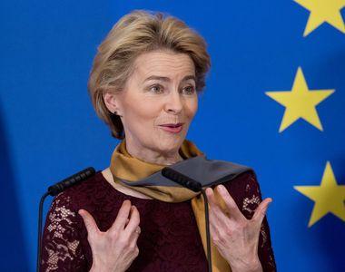 Preşedinta Comisiei Europene Ursula von der Leyen vine luni la Bucureşti pentru a...