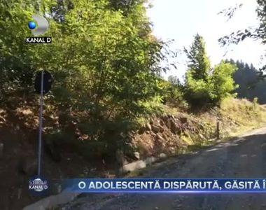 O adolescentă dispărută, găsită în râpă