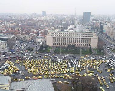 Protest cu 100 de TIR-uri în fața Guvernului. Inițiatorii  cer soluționarea problemelor...