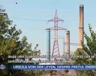 Ursula Von Der Leyen, despre prețul energiei