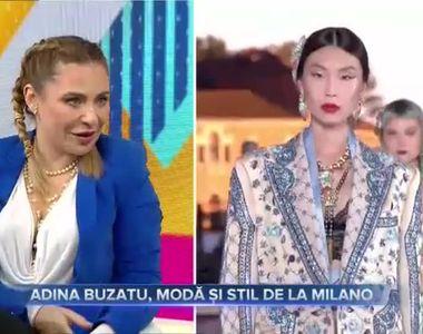 Adina Buzatu, modă și stil de la Milano
