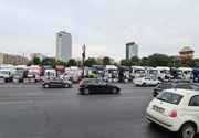 Protest cu TIR-uri în fața Guvernului (VIDEO)