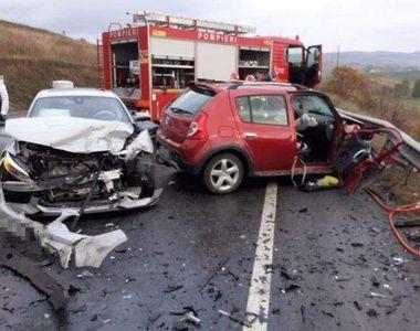 Accident rutier în Cluj. Două mașini s-au ciocnit