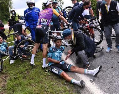 O femeie a provocat accidentarea mai multor bicicliști  la  Turul Franței.