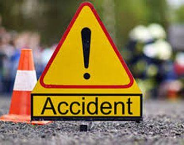 Accident cumplit în Baia Mare.Un microbuz s-a răsturnat, iar două persoane au fost rănite