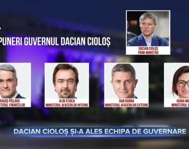 Dacian Cioloș și-a ales echipa de guvernare