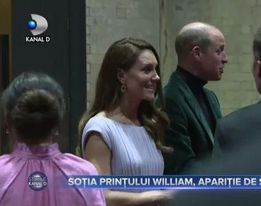 Soția prințului William, apariție de senzație