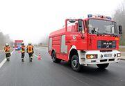 O cisternă încărcată cu substanțe periculoase a fost implicată într-un accident în Dâmbovița