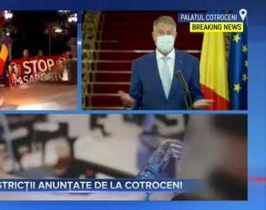 Restricții anunțate de la Cotroceni