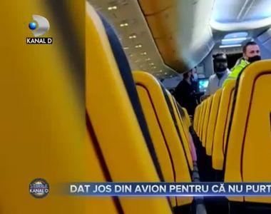 Dat jos din avion pentru că nu purta mască