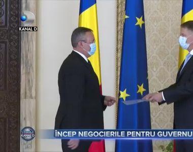Încep negocierile pentru Guvernul Ciucă
