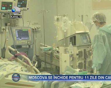 Moscova se închide pentru 11 zile din cauza COVID