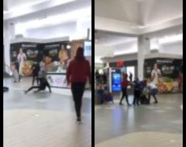 VIDEO | Bătaie într-un mall din Cluj. Un bărbat a refuzat să arate certificatul verde...
