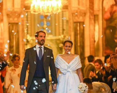 Prima nuntă regală din Grecia: Cel mai tânăr fiu al fostului suveran grec s-a căsătorit...