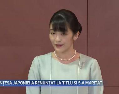 Printesa Japoniei a renuntat la titlu si s-a maritat