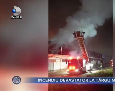 Incendiu devastator la Târgu Mureș