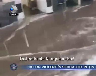 Ciclon violent în Sicilia, cel puțin 2 morți