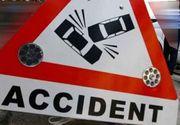 Accident grav in Prahova. Trei persoane, ranite dupa ce au intrat cu masina intr-un stalp, pe DN1, la Posada