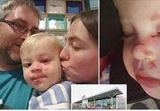 Un baietel de numai 15 luni a fost batut cu bestialitate de catre un strain intr-un supermarket! Politia il cauta pe atacator!