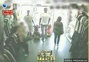 Cum actioneaza hotii de haine: in 30 de secunde, dispar din magazin cu marfa la subrat