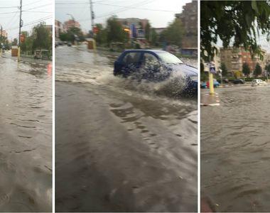 Prapad la Constanta! Mai multe strazi au fost inundate in urma unei ploi torentiale!...