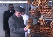 Imagini document: Nicolae Ceauşescu viziteaza un magazin alimentar, in 1989