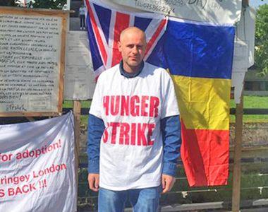 Romanul caruia Marea Britanie i-a luat cei doi copii a iesit din greva foamei....
