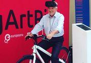 Mircea Diaconu promoveaza mostenirea culturala europeana cu ajutorul unei biciclete stationare