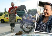 Argentinianul, care face inconjurul lumii pe motocicleta, impreuna cu sotia, bebelusul si cainele lor, a ajuns la Bucuresti