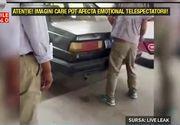 Bataie crunta intr-o benzinarie. Un individ s-a napustit asupra unei femei si a bagat-o in portbagaj. Martorii nu au putut face nimic
