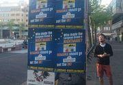 """Afise anti-romanesti in Olanda: """"Cine a transformat visul european intr-un cosmar? Romania trebuie sa plece din UE, nu Marea Britanie!"""""""