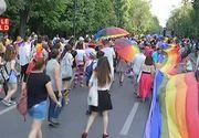 Parada homosexualilor din Bucuresti. Sute de oameni ai comunitatii LGBT au participat la marsul de la Arcul de Trimf