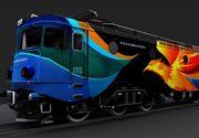 Asta e trenul care va merge aceasta vara pe litoral! Prinde 160 de kilometri si are un design special!