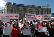 Aproape 30.000 de angajati din primarii si consilii judetene au intrat in greva astazi. Timp de o ora toate activitatile au fost sistate