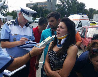 Iasi: 7 persoane au ajuns la spital dupa ce au fost accidentate de o soferita incepatoare