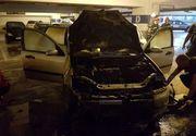 Momente de panica intr-un mall din Timisoara. O masina a luat foc in parcarea subterana