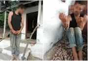 Perchezitii in Arges la traficanti de persoane. Victimele erau rapite din gari si autogari si erau abuzate sexual. Li se dadea mancare de pe jos si erau legate cu lanturi