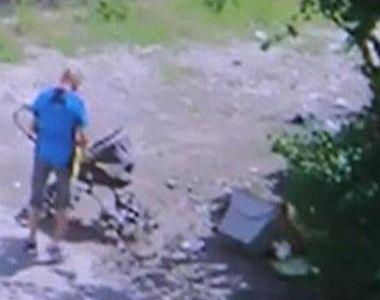 Imagini revoltatoare, surprinse la Timisoara! Un barbat, filmat in timp ce arunca...