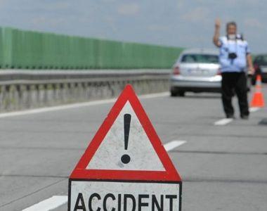 Trafic ingreunat pe Autostrada Soarelui din cauza unui accident. Coada de masini se...