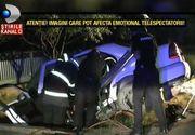 Noapte tragica pentru patru tineri. Se intorceau acasa dupa o seara de distractie, insa masina a intrat intr-un pod. Trei au murit, iar unul este in stare grava