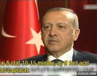 Presedintele turc a oferit primul interviu dupa lovitura de stat esuata. Erdogan a...