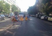 Circulatia tramvaielor, blocata in zona Garii de Nord din Capitala, dupa ce s-a spart o conducta de apa