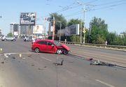 Accident grav pe Podul Baneasa din Bucuresti. Patru persoane au fost ranite, trei autoturisme au fost avariate