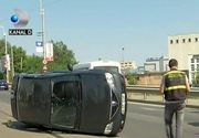 Accident grav in Baneasa. Doi oameni au ajuns la spital, dupa ce un sofer a facut o manevra periculoasa