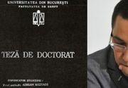 CNATDCU mentine verdictul de plagiat in cazul tezei de doctorat a lui Victor Ponta. Comisia a de experti a respins contestatia fostului premier